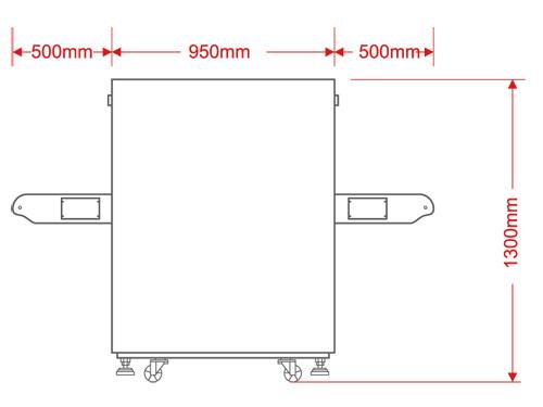 LD-6550A通道式X光安检机尺寸