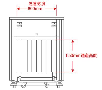 LD-8065通道式X光安检机尺寸