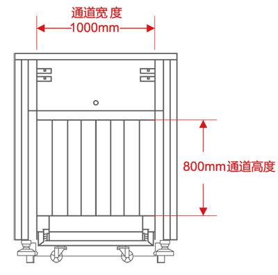 LD-10080通道式X光安检机尺寸