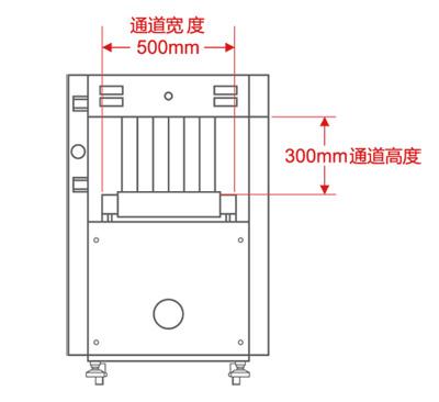 LD-5030A通道式X光安检机尺寸图