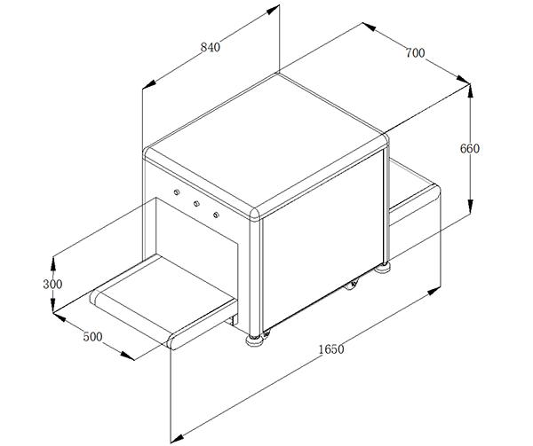 LD-5030M通道式X光安检机尺寸