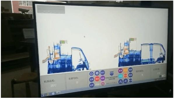 货车通过x光安检机是什么样子的?